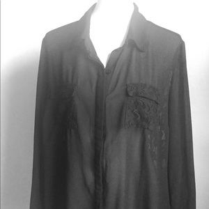 Torrid - Sheer Black Blouse 1X